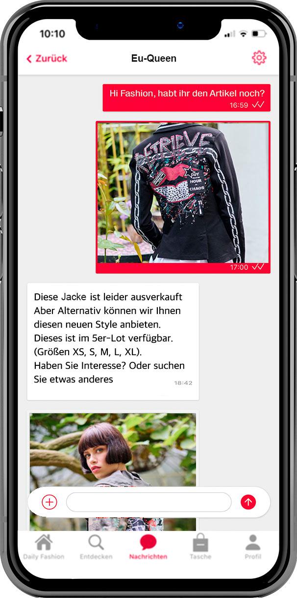Fashion App Imotex Screen